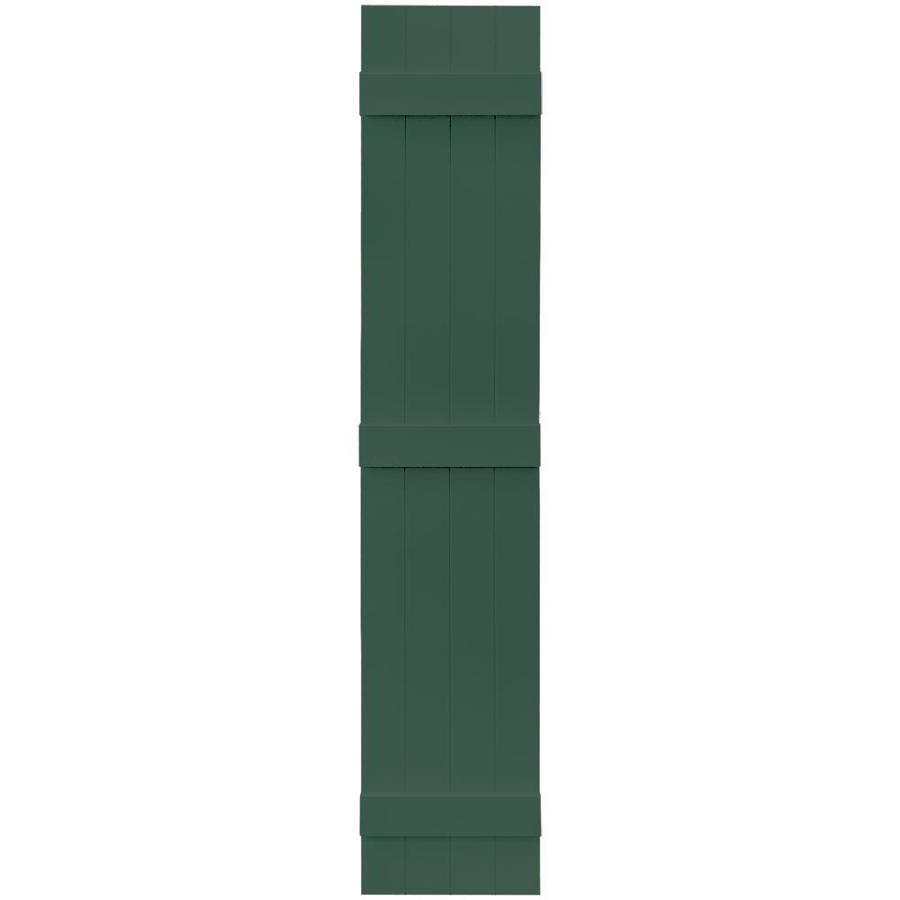 Vantage 2-Pack Midnight Green Board and Batten Vinyl Exterior Shutters (Common: 14-in x 75-in; Actual: 13.875-in x 74.875-in)