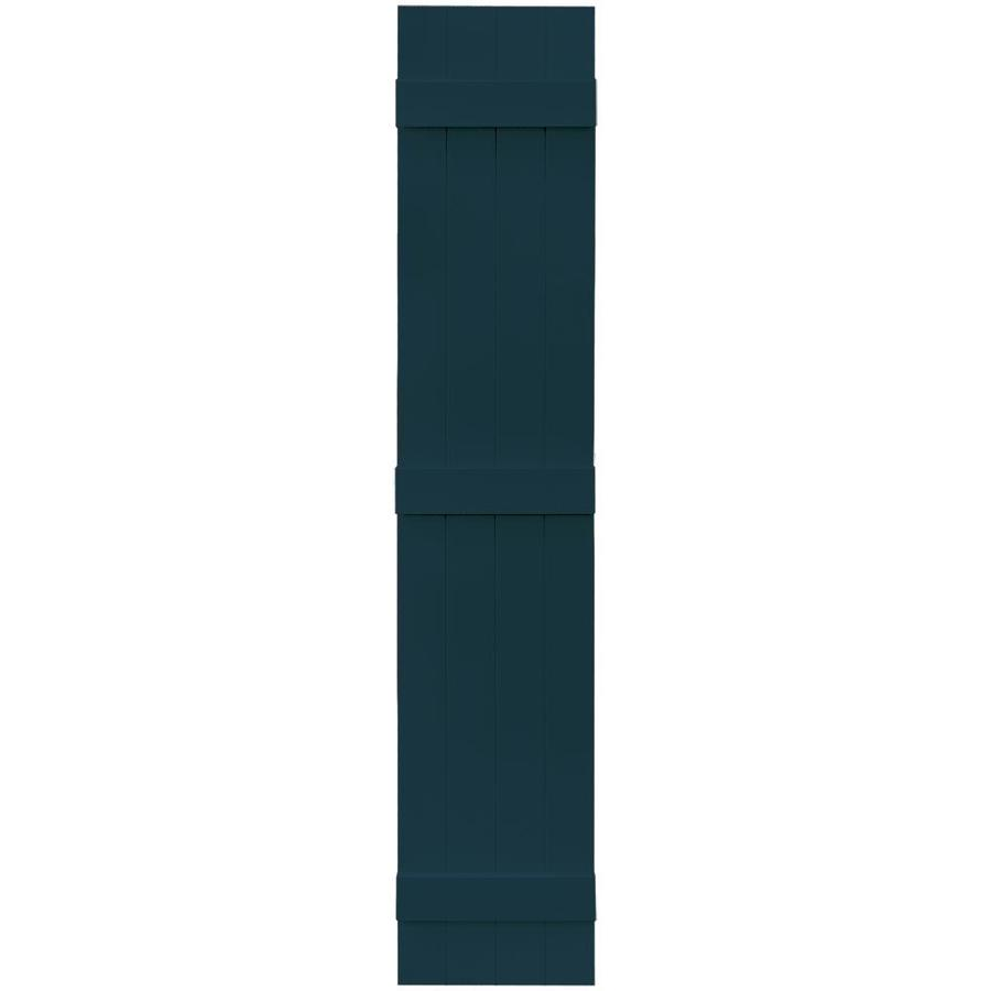Vantage 2-Pack Indigo Blue Board and Batten Vinyl Exterior Shutters (Common: 14-in x 75-in; Actual: 13.875-in x 74.875-in)