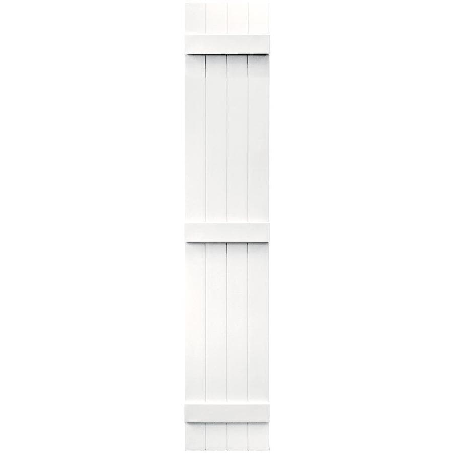 Vantage 2-Pack White Board and Batten Vinyl Exterior Shutters (Common: 14-in x 80-in; Actual: 13.875-in x 79.875-in)
