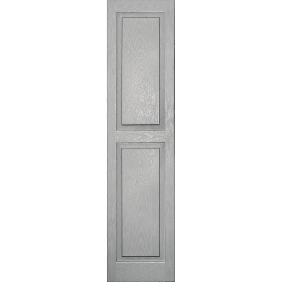 Vantage 2-Pack Paintable Raised Panel Vinyl Exterior Shutters (Common: 14-in x 59-in; Actual: 14.0312-in x 59.1875-in)