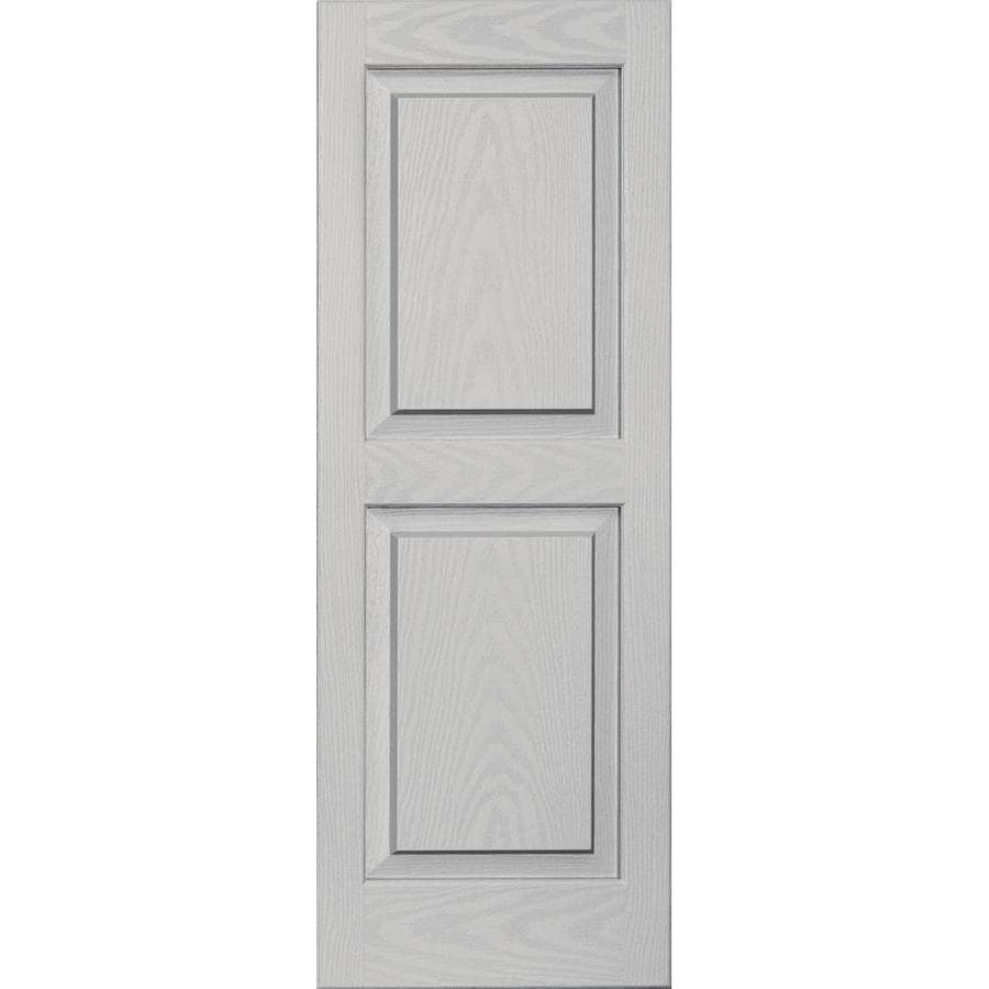 Vantage 2-Pack Paintable Raised Panel Vinyl Exterior Shutters (Common: 14-in x 39-in; Actual: 14.0312-in x 38.875-in)