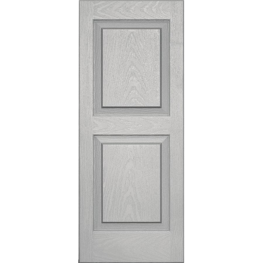 Vantage 2 Pack Paintable Raised Panel Vinyl Exterior Shutters (Common: 14 In