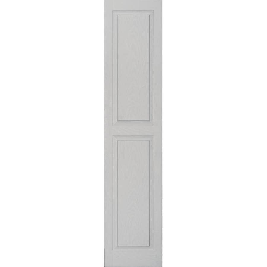 Vantage 2-Pack Paintable Raised Panel Vinyl Exterior Shutters (Common: 14-in x 67-in; Actual: 14.0312-in x 67.1875-in)