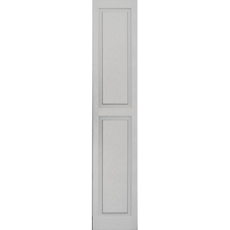 Shop Vantage 2 Pack Paintable Raised Panel Vinyl Exterior Shutters Common 14 In X 71 In