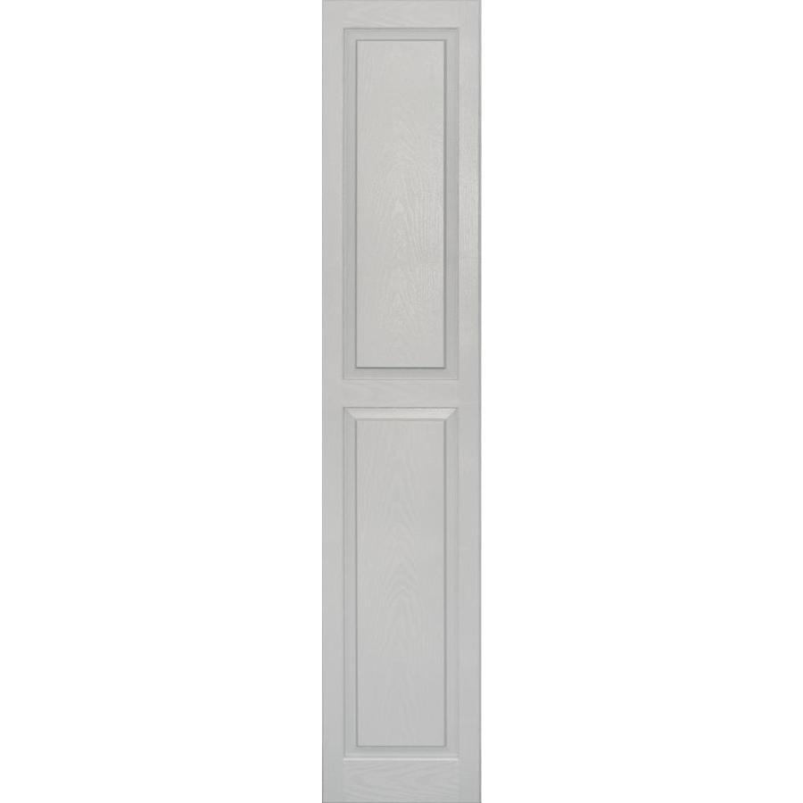 Vantage 2-Pack Paintable Raised Panel Vinyl Exterior Shutters (Common: 14-in x 75-in; Actual: 14.0312-in x 75.1875-in)