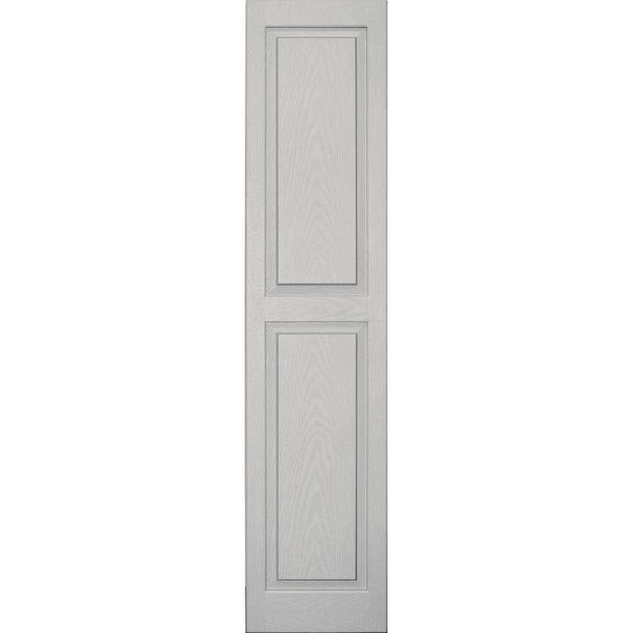 Vantage 2-Pack Paintable Raised Panel Vinyl Exterior Shutters (Common: 14-in x 63-in; Actual: 14.0312-in x 63.1875-in)