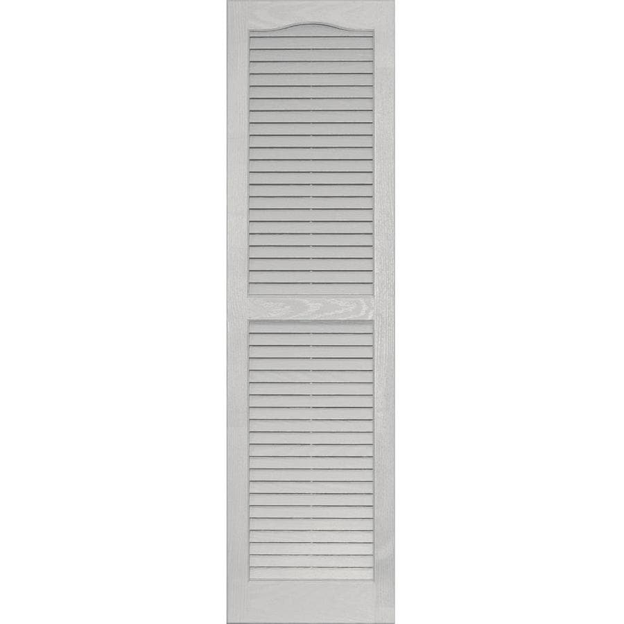 Shop Vantage 2 Pack Paintable Louvered Vinyl Exterior Shutters Common 14 In X 51 In Actual