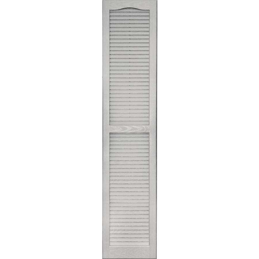 Vantage 2-Pack Paintable Louvered Vinyl Exterior Shutters (Common: 14-in x 67-in; Actual: 14.0312-in x 67.0312-in)