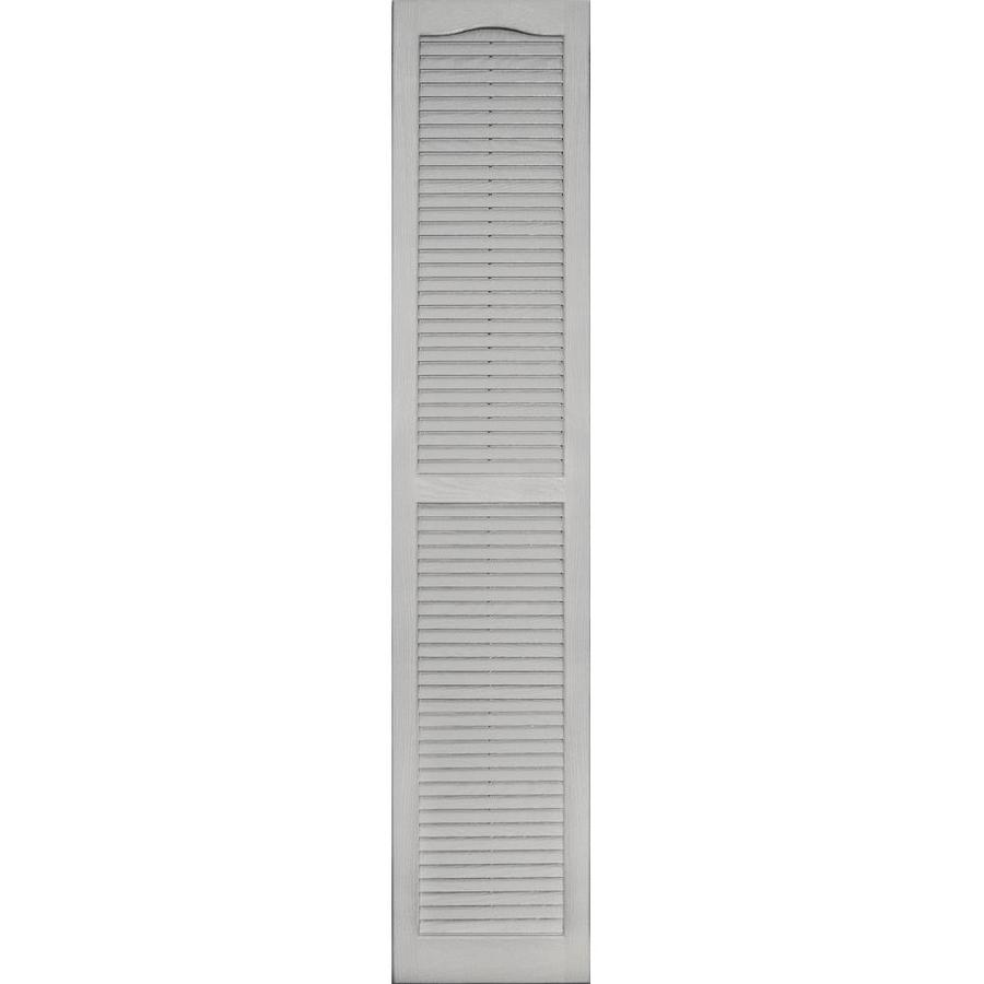 Vantage 2-Pack Paintable Louvered Vinyl Exterior Shutters (Common: 14-in x 71-in; Actual: 14.0312-in x 71.0312-in)