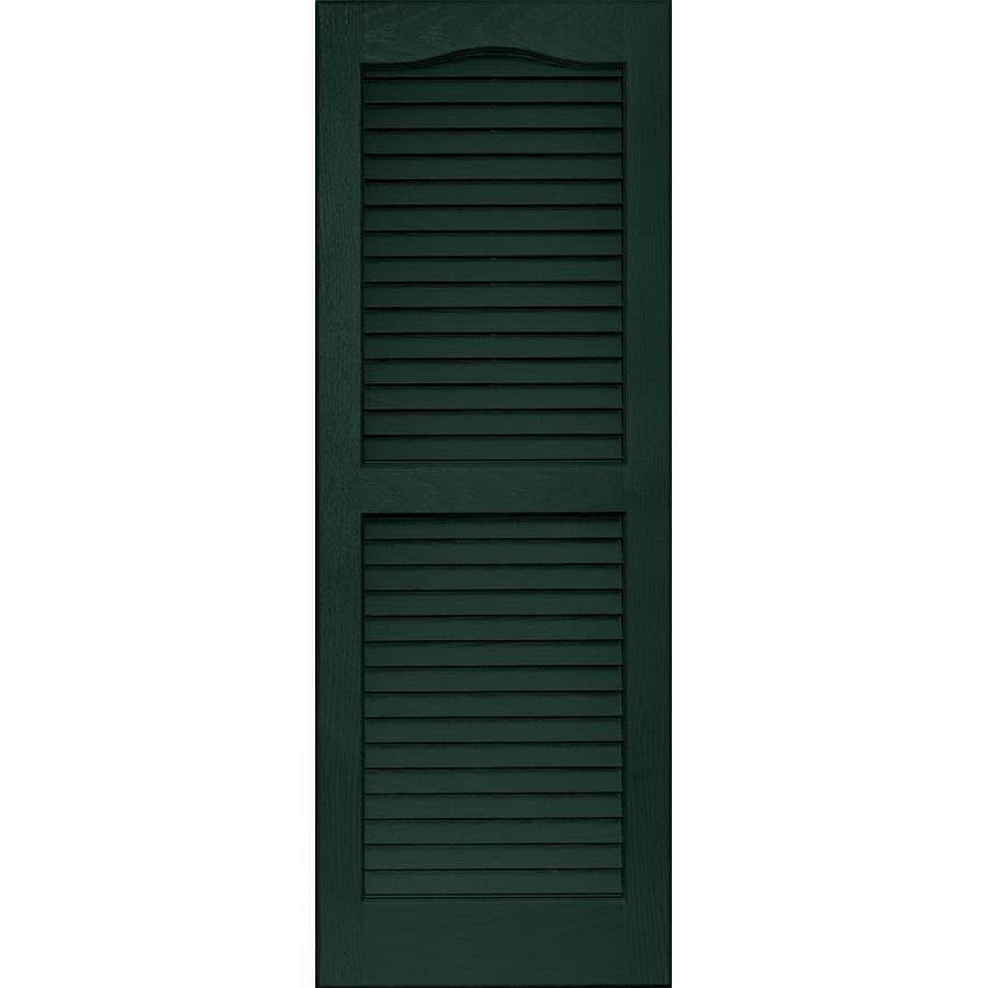 Vantage 2-Pack Midnight Green Louvered Vinyl Exterior Shutters (Common: 14-in x 39-in; Actual: 13.875-in x 38.6875-in)