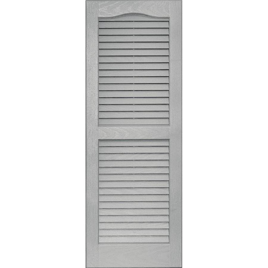 Vantage 2 Pack Paintable Louvered Vinyl Exterior Shutters (Common: 14 In X