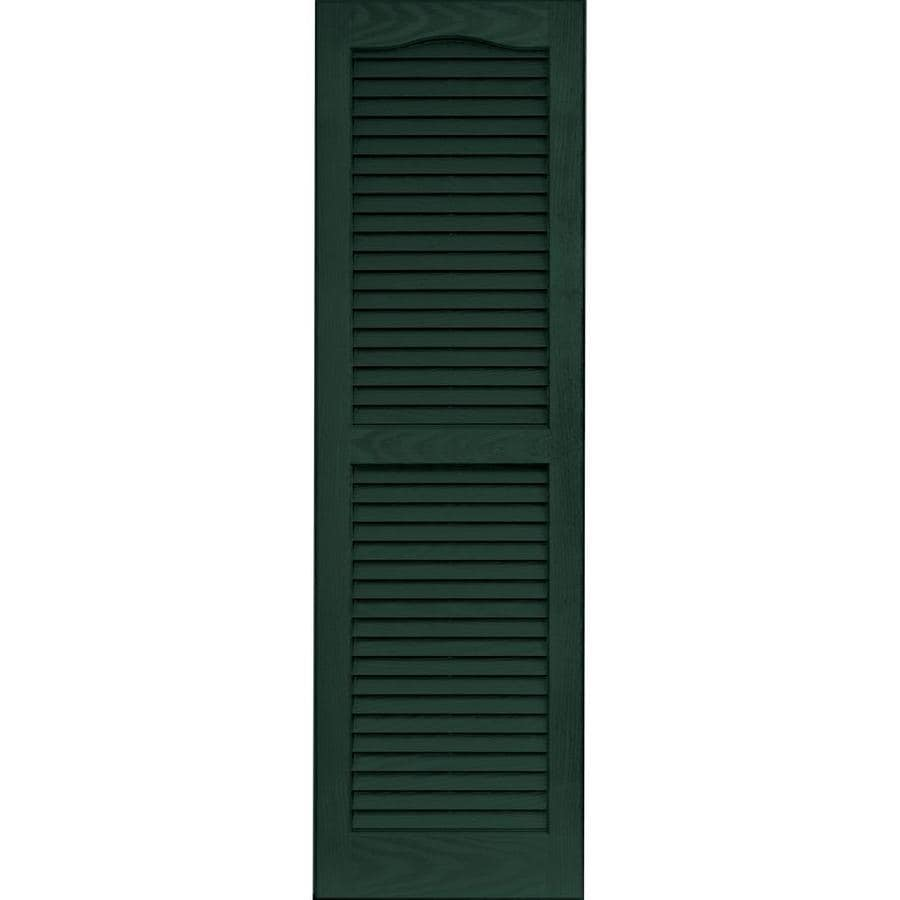 Vantage 2-Pack Midnight Green Louvered Vinyl Exterior Shutters (Common: 14-in x 47-in; Actual: 13.875-in x 46.6875-in)