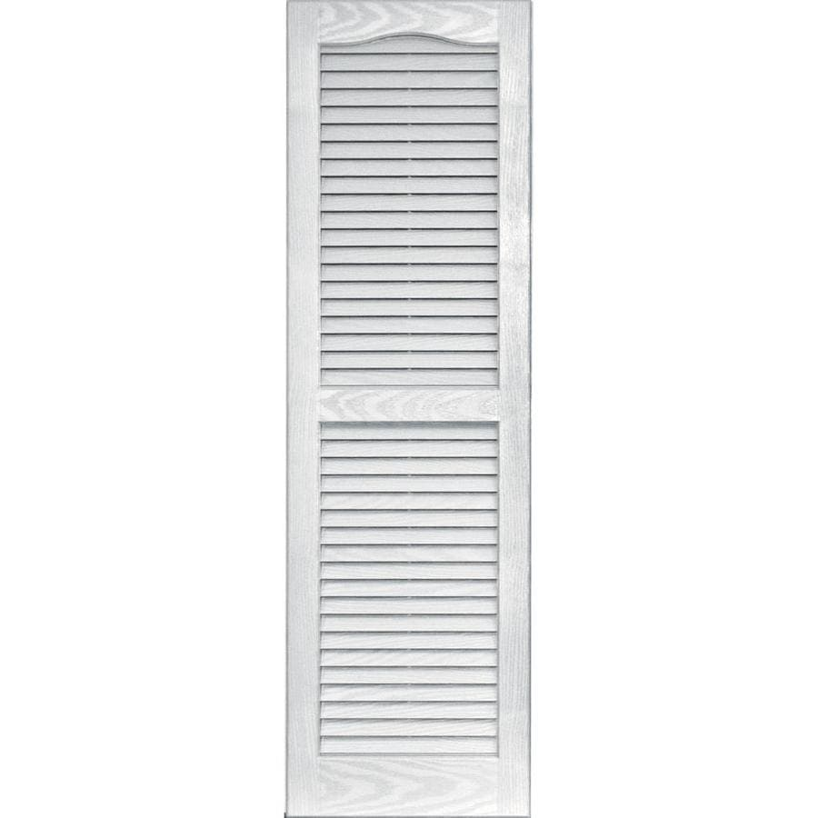 Vantage 2 pack white louvered vinyl exterior shutters - Paintable louvered vinyl exterior shutters ...