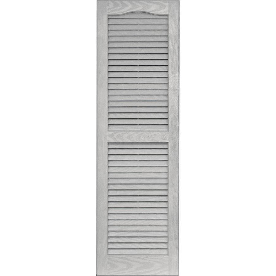 Vantage 2-Pack Paintable Louvered Vinyl Exterior Shutters (Common: 14-in x 47-in; Actual: 14.0625-in x 47.125-in)