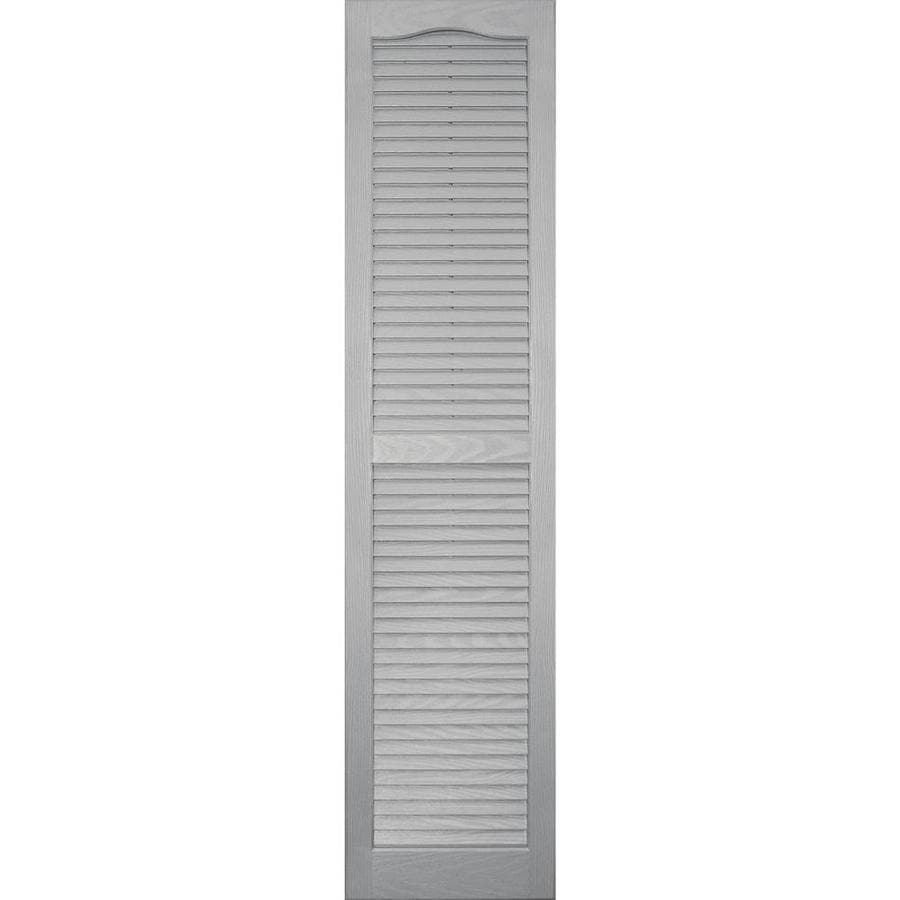 Vantage 2-Pack Paintable Louvered Vinyl Exterior Shutters (Common: 14-in x 59-in; Actual: 14.0625-in x 59.25-in)