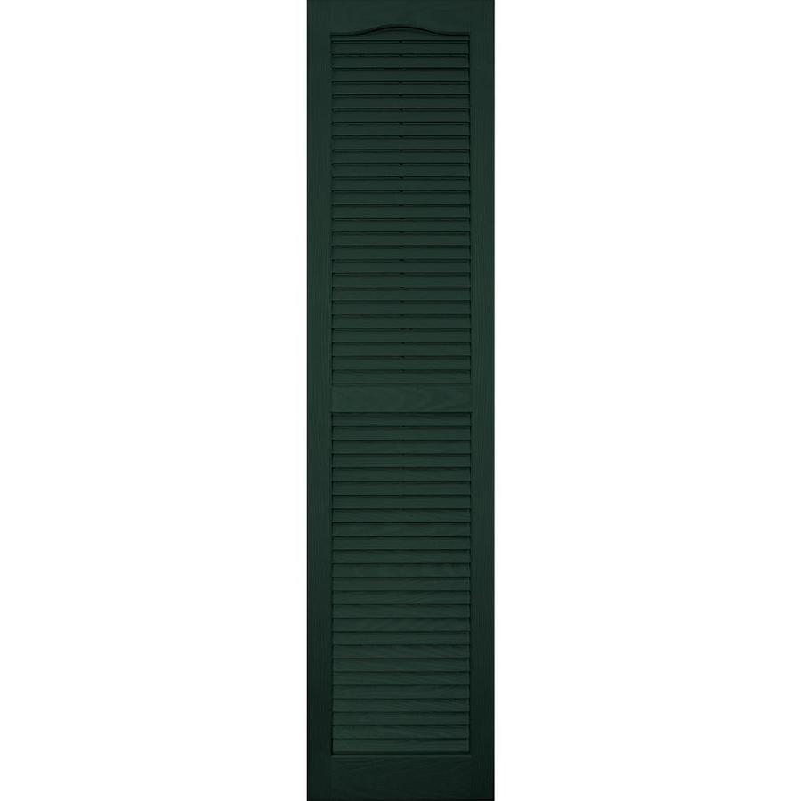 Vantage 2-Pack Midnight Green Louvered Vinyl Exterior Shutters (Common: 14-in x 59-in; Actual: 13.875-in x 58.5625-in)