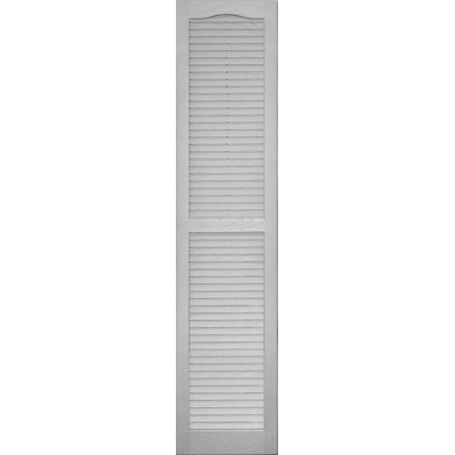 Shop Vantage 2 Pack Paintable Louvered Vinyl Exterior Shutters Common 14 In X 63 In Actual