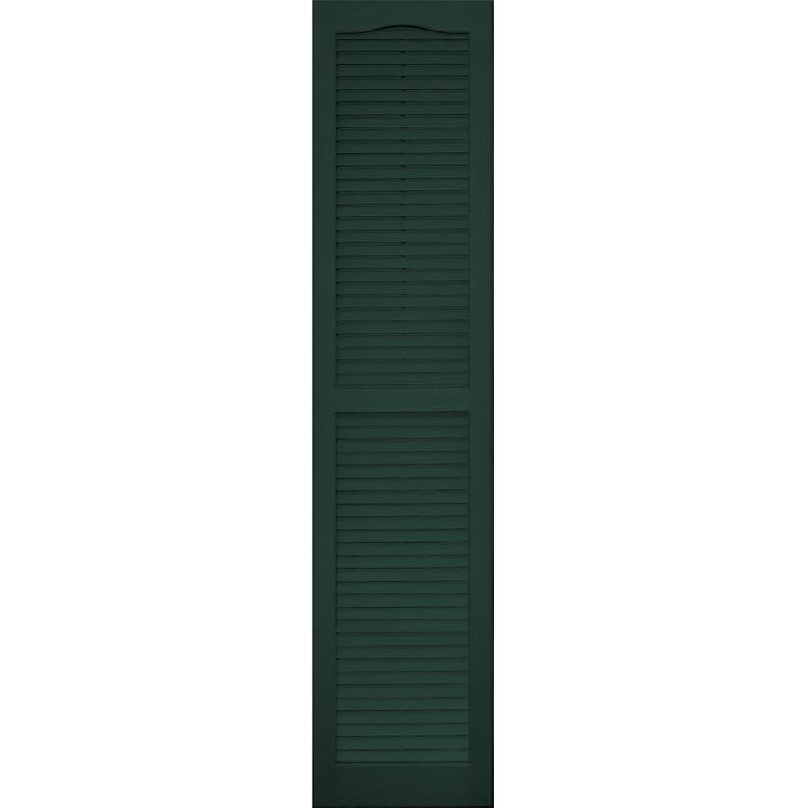 Vantage 2-Pack Midnight Green Louvered Vinyl Exterior Shutters (Common: 14-in x 63-in; Actual: 13.875-in x 62.5-in)