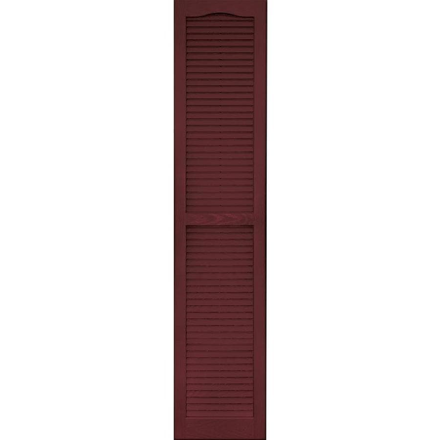 Vantage 2-Pack Cranberry Louvered Vinyl Exterior Shutters (Common: 14-in x 67-in; Actual: 13.875-in x 66.625-in)