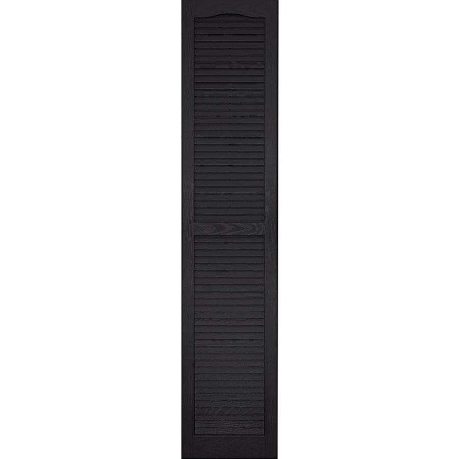 Vantage 2-Pack Black Louvered Vinyl Exterior Shutters (Common: 14-in x 67-in; Actual: 13.875-in x 66.625-in)