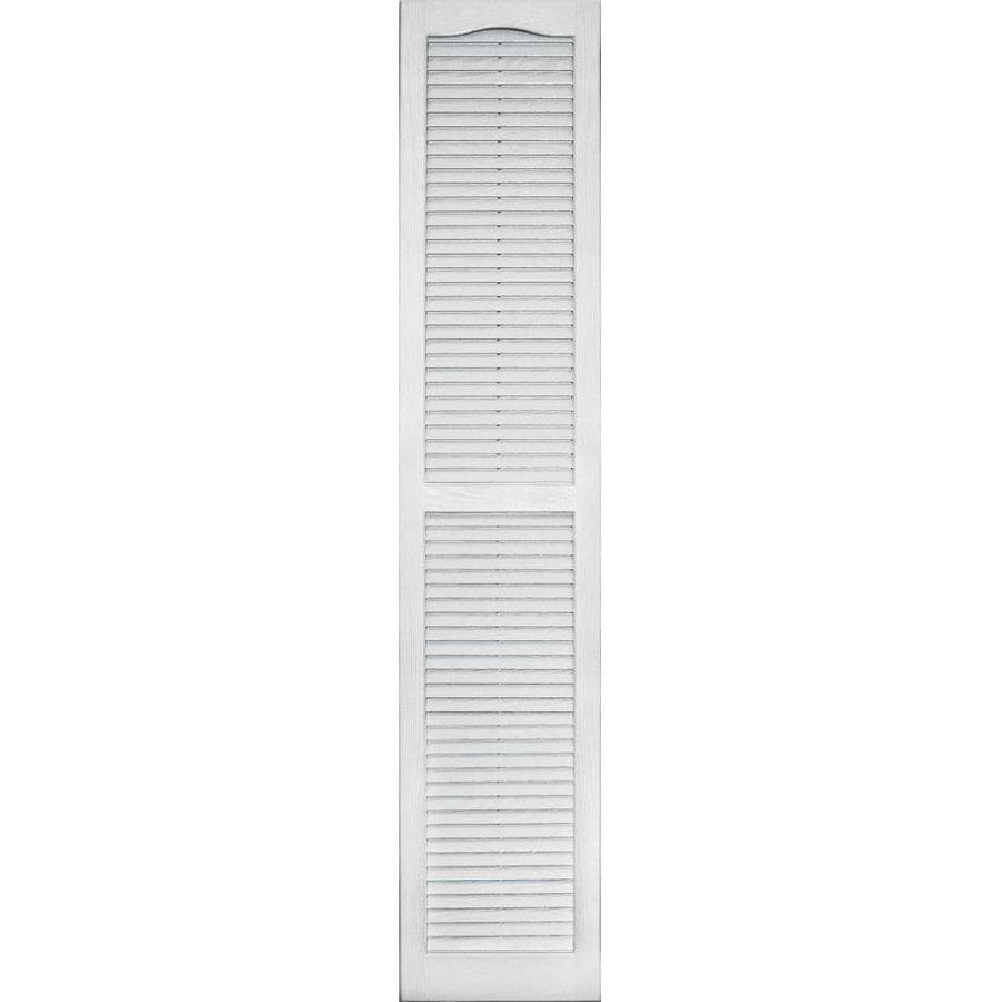 Vantage 2-Pack White Louvered Vinyl Exterior Shutters (Common: 14-in x 71-in; Actual: 13.875-in x 70.625-in)