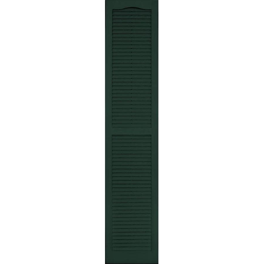 Vantage 2-Pack Midnight Green Louvered Vinyl Exterior Shutters (Common: 14-in x 71-in; Actual: 13.875-in x 70.625-in)