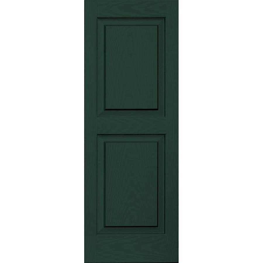 Vantage 2-Pack Midnight Green Raised Panel Vinyl Exterior Shutters (Common: 14-in x 39-in; Actual: 13.875-in x 38.625-in)