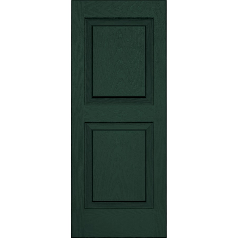Vantage 2-Pack Midnight Green Raised Panel Vinyl Exterior Shutters (Common: 14-in x 35-in; Actual: 13.875-in x 34.6875-in)