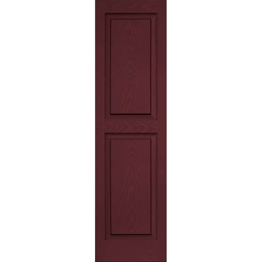 Vantage 2-Pack Cranberry Raised Panel Vinyl Exterior Shutters (Common: 14-in x 51-in; Actual: 13.875-in x 50.625-in)