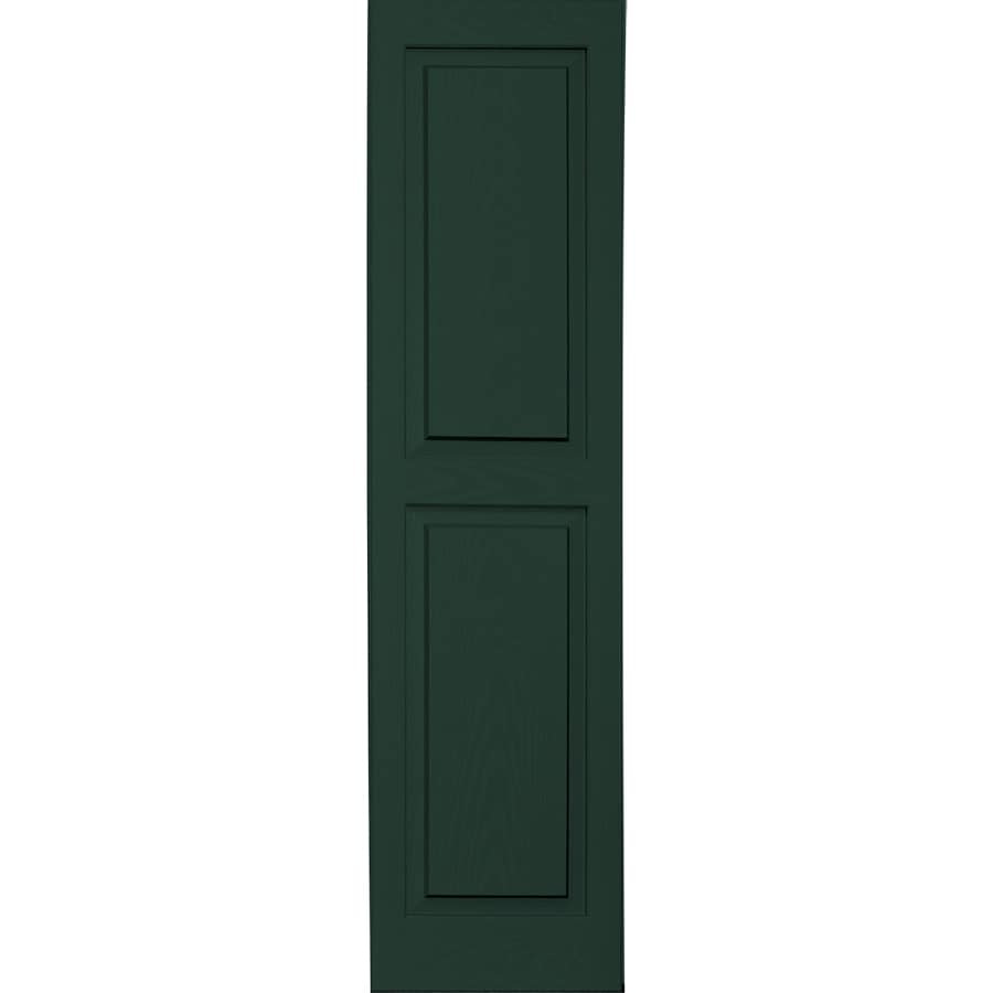 Vantage 2-Pack Midnight Green Raised Panel Vinyl Exterior Shutters (Common: 14-in x 55-in; Actual: 13.875-in x 54.5625-in)