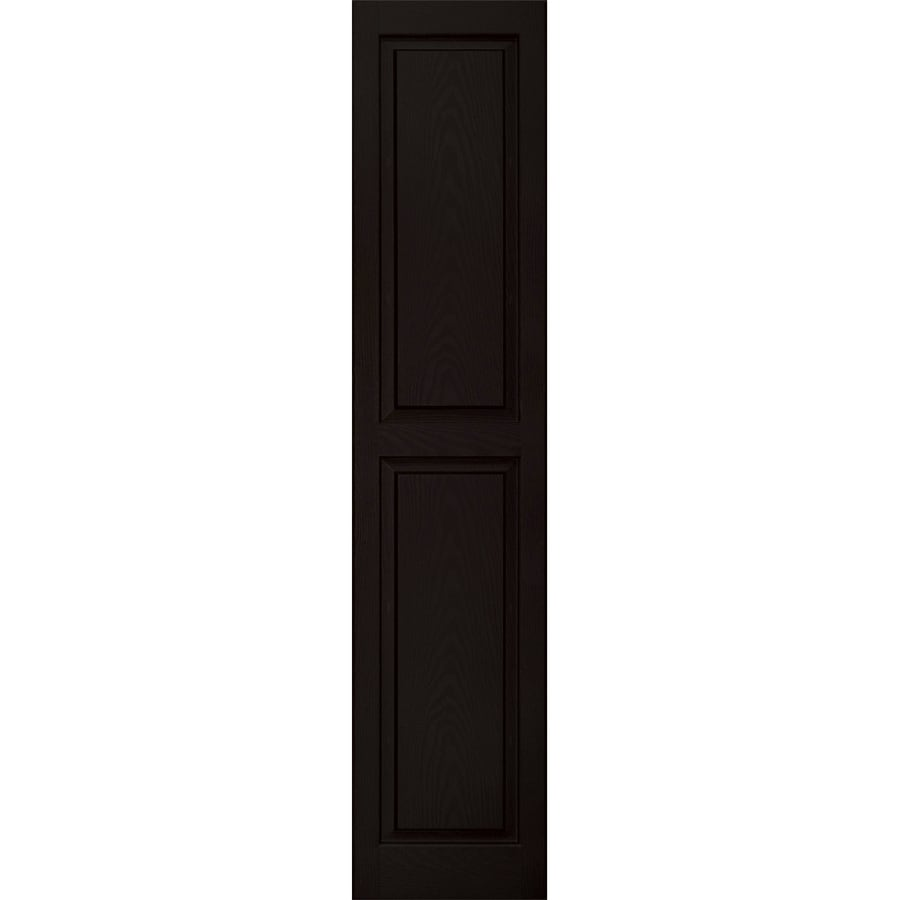 Vantage 2-Pack Black Raised Panel Vinyl Exterior Shutters (Common: 14-in x 67-in; Actual: 13.875-in x 66.5625-in)