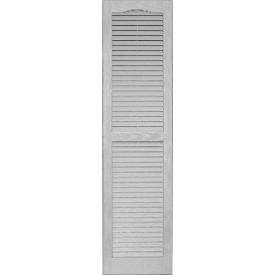 Delightful Vantage 2 Pack Paintable Louvered Vinyl Exterior Shutters (Common: 14 In X
