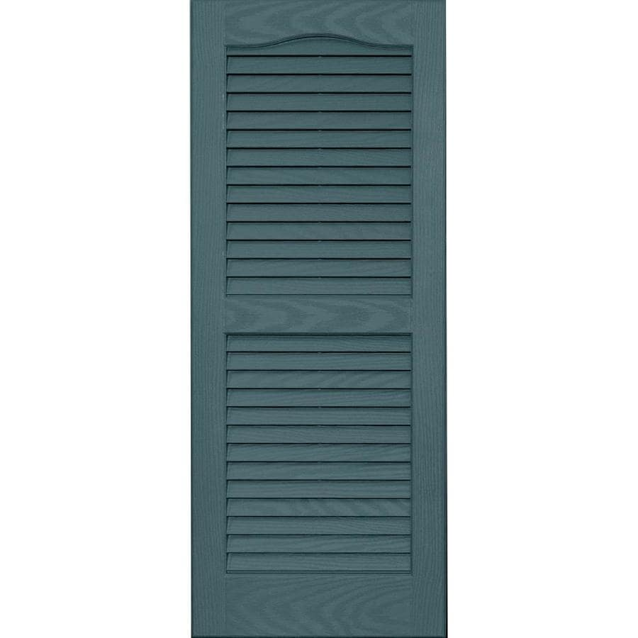 Vantage 2-Pack Wedgewood Blue Louvered Vinyl Exterior Shutters (Common: 14-in x 35-in; Actual: 13.875-in x 34.6875-in)