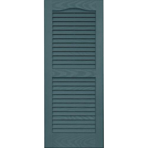 Vantage 2 Pack Wedgewood Blue Louvered Vinyl Exterior