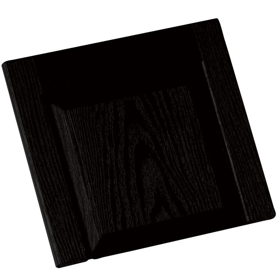 Vantage 2-Pack Black Vinyl Exterior Shutters (Common: 14-in x 13-in; Actual: 13.875-in x 13.0625-in)