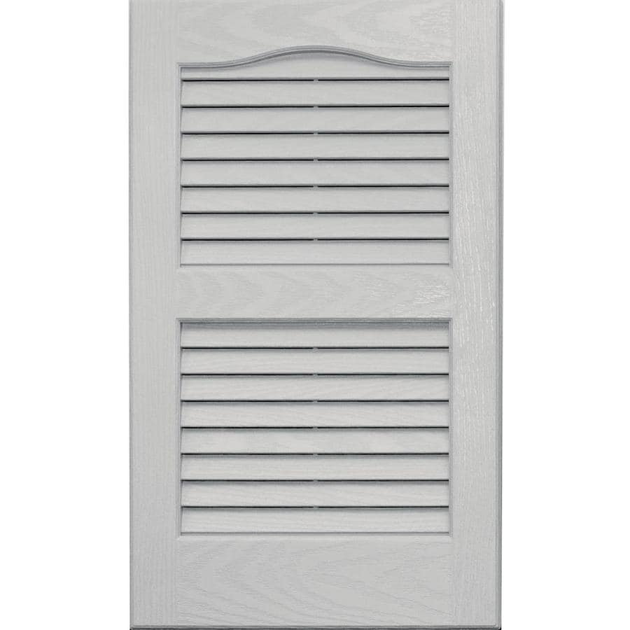 Lovely Vantage 2 Pack Paintable Louvered Vinyl Exterior Shutters (Common: 14 In X