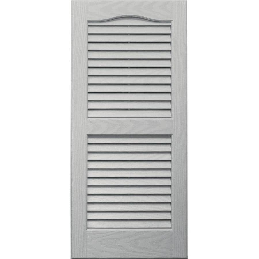 Shop Vantage 2 Pack Paintable Louvered Vinyl Exterior Shutters Common 14 In X 31 In Actual