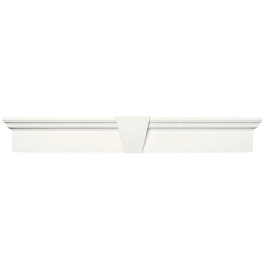 Vantage 37.5-in x 6-in White Vinyl Window Header