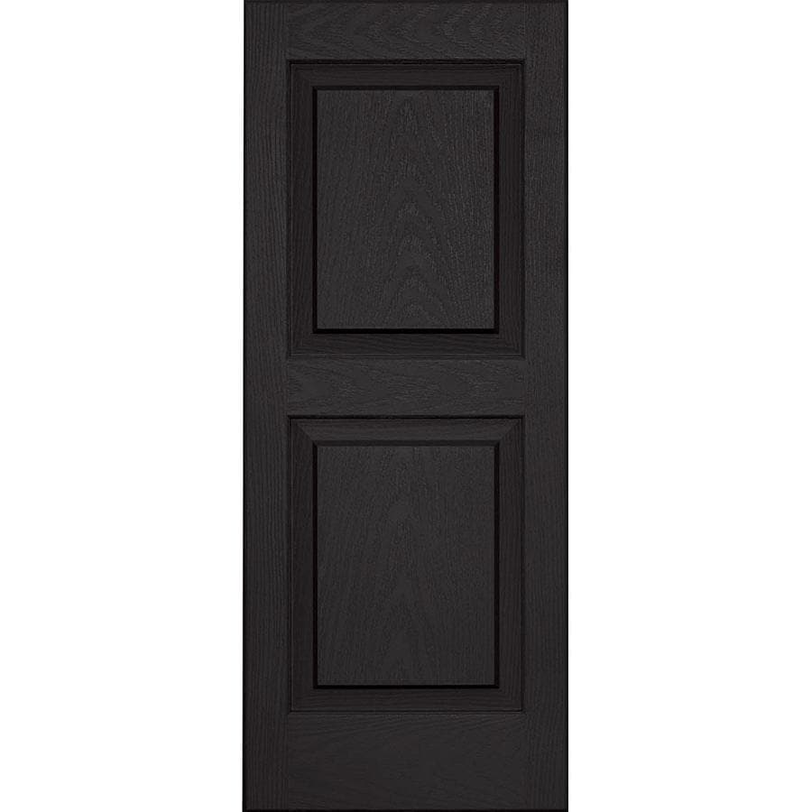 Vantage 2-Pack Black Raised Panel Vinyl Exterior Shutters (Common: 14-in x 35-in; Actual: 13.875-in x 34.6875-in)