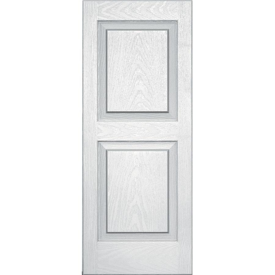 Vantage 2-Pack White Raised Panel Vinyl Exterior Shutters (Common: 14-in x 35-in; Actual: 13.875-in x 34.6875-in)