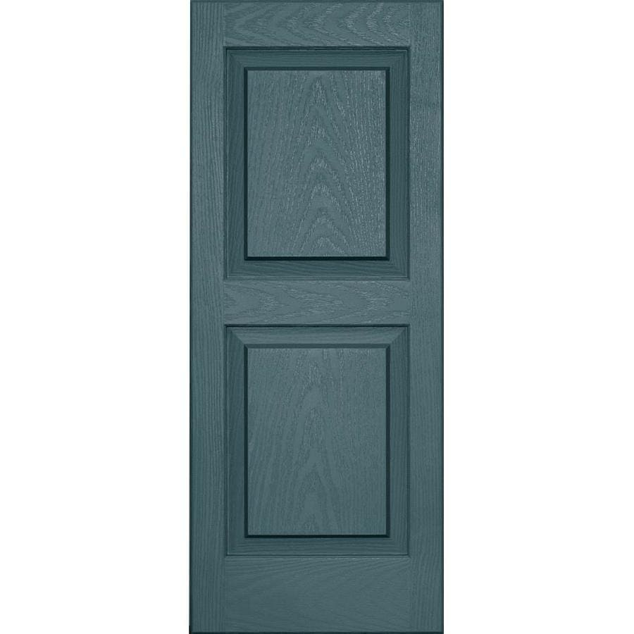 Vantage 2-Pack Wedgewood Blue Raised Panel Vinyl Exterior Shutters (Common: 14-in x 35-in; Actual: 13.875-in x 34.6875-in)