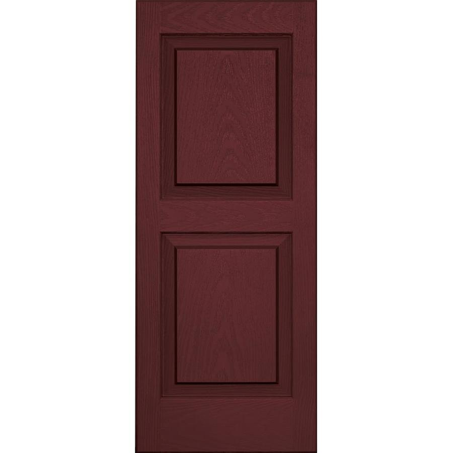 Vantage 2-Pack Cranberry Raised Panel Vinyl Exterior Shutters (Common: 14-in x 35-in; Actual: 13.875-in x 34.6875-in)