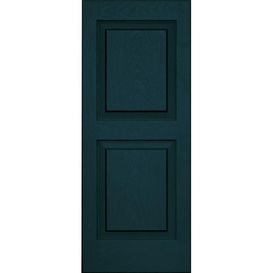 Vantage 2-Pack Indigo Blue Raised Panel Vinyl Exterior Shutters (Common: 14-in x 35-in; Actual: 13.875-in x 34.6875-in)