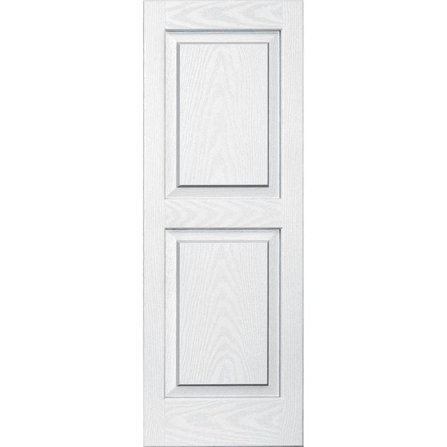 Vantage 2-Pack White Raised Panel Vinyl Exterior Shutters (Common: 14-in x 39-in; Actual: 13.875-in x 38.625-in)