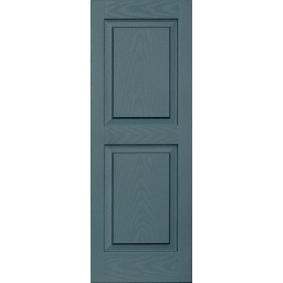 Vantage 2-Pack Wedgewood Blue Raised Panel Vinyl Exterior Shutters (Common: 14-in x 39-in; Actual: 13.875-in x 38.625-in)