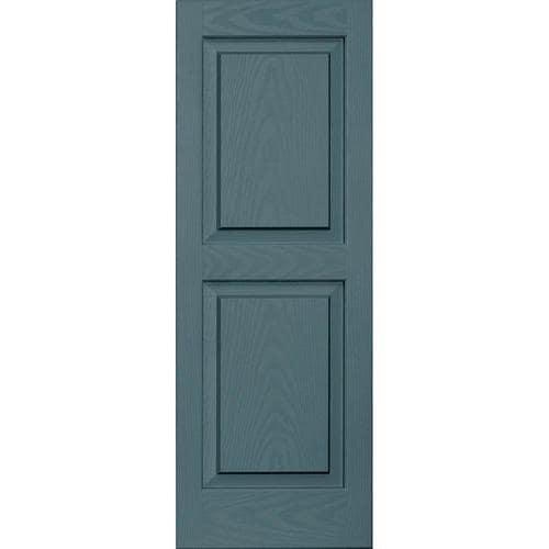Vantage 2 Pack Wedgewood Blue Raised Panel Vinyl Exterior
