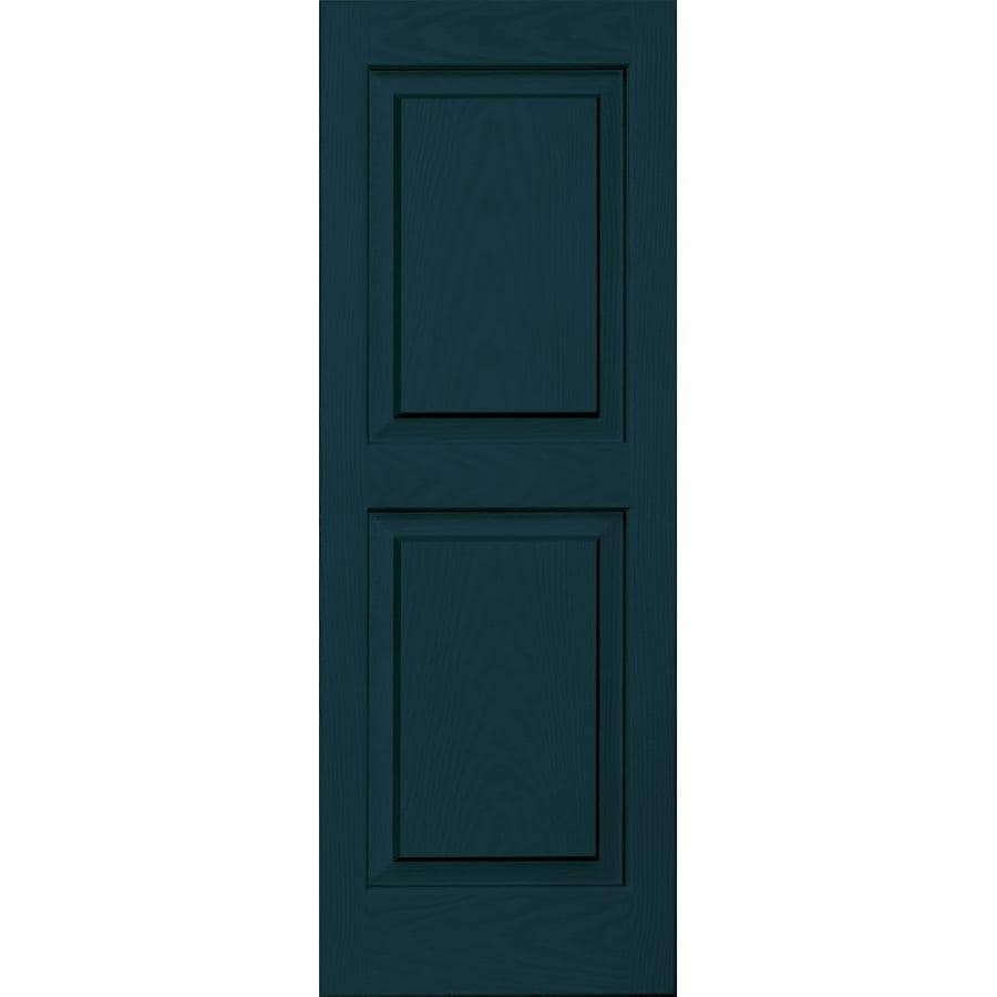 Vantage 2-Pack Indigo Blue Raised Panel Vinyl Exterior Shutters (Common: 14-in x 39-in; Actual: 13.875-in x 38.625-in)