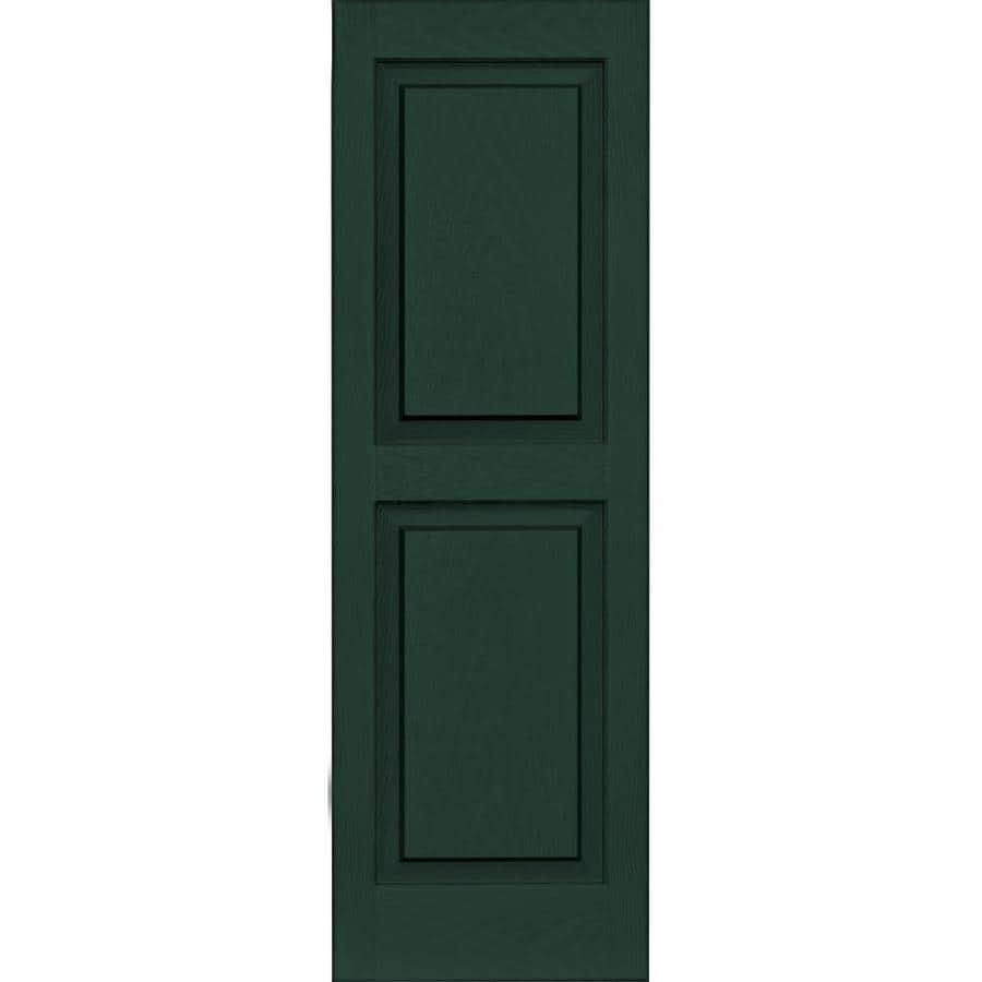 Vantage 2-Pack Midnight Green Raised Panel Vinyl Exterior Shutters (Common: 14-in x 43-in; Actual: 13.875-in x 42.625-in)