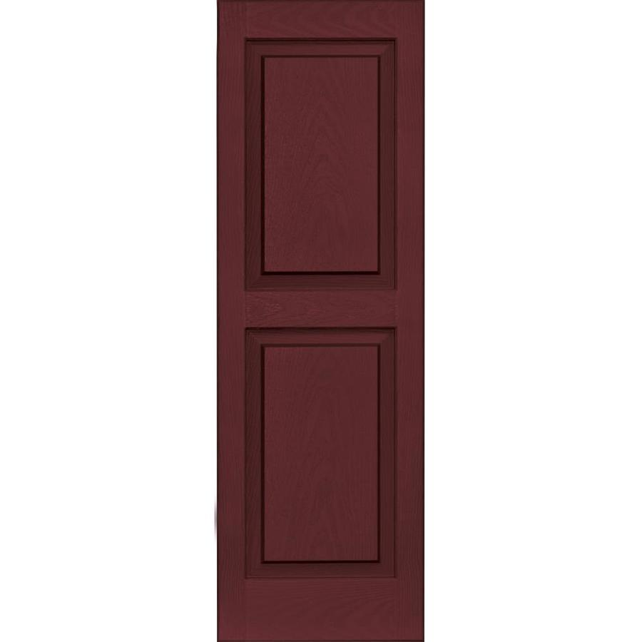 Vantage 2-Pack Cranberry Raised Panel Vinyl Exterior Shutters (Common: 14-in x 43-in; Actual: 13.875-in x 42.625-in)