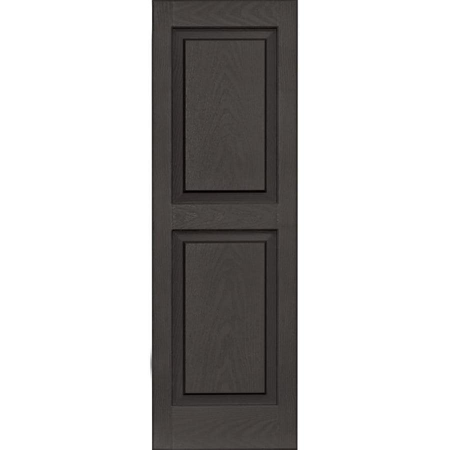 Vantage 2-Pack Charcoal Grey Raised Panel Vinyl Exterior Shutters (Common: 14-in x 43-in; Actual: 13.875-in x 42.625-in)